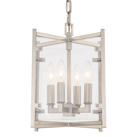 Crystorama Danbury 4 Light Brushed Nickel Chandelier