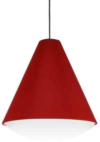Dainolite EMLED-13P-RD 14W LED Pendant, Red