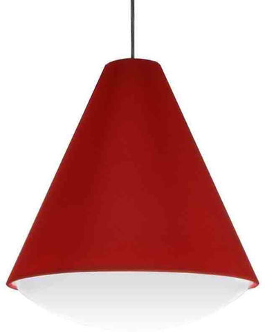 Dainolite EMLED-17P-RD 22W LED Pendant, Red