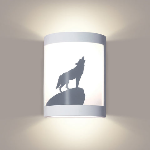 A19 F200H-WETST-CFL13-M10 Silhouette Collection Lone Wolf Colonial Pewter Finish