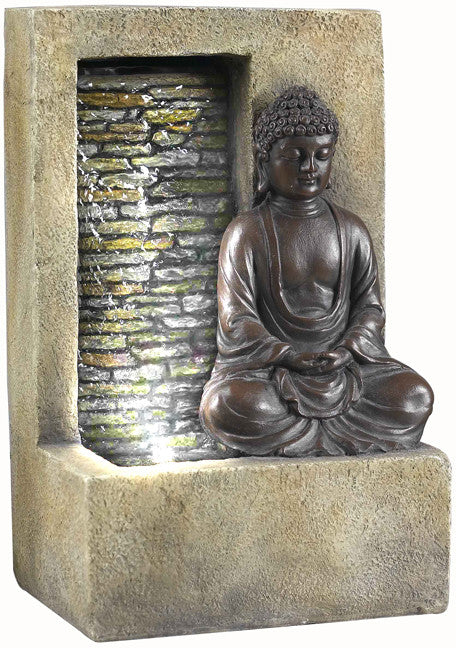 OK Lighting Ft-1199/1l Buddah Tabletop Fountain