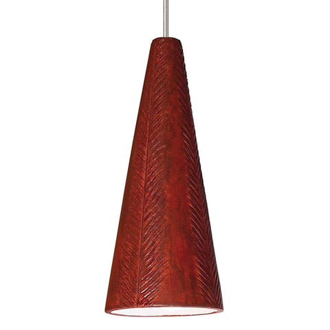 A19 LVMP04-RR-LEDMR16 Studio Collection Fossil Red Rock Finish Mini Pendant