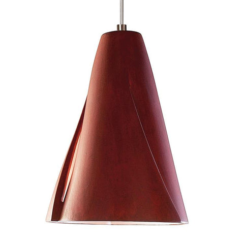 A19 LVMP05-RR-LEDMR16 Studio Collection Whirl Red Rock Finish Mini Pendant