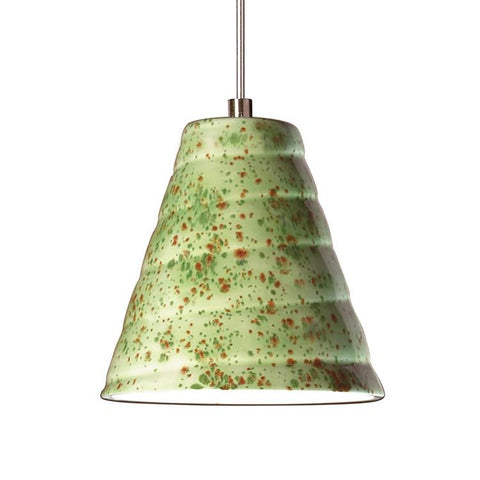A19 LVMP12-PS-LEDMR16 Studio Collection Vortex Pistachio Finish Mini Pendant