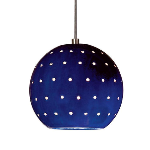 A19 LVMP17-CB-LEDMR16 Studio Collection Lunar Cobalt Blue Finish Mini Pendant