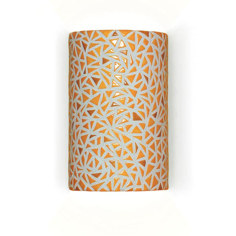 A19 M20307-SY-WETST-CFL13 Mosaic Collection Impact Sunflower Yellow Finish Wall Sconce