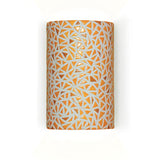 A19 M20307-SY-CFL13 Mosaic Collection Impact Sunflower Yellow Finish Wall Sconce