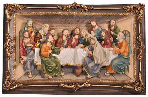 Ok Lighting OK-2534-P3A Last Supper Hanging Plaque - PeazzLighting