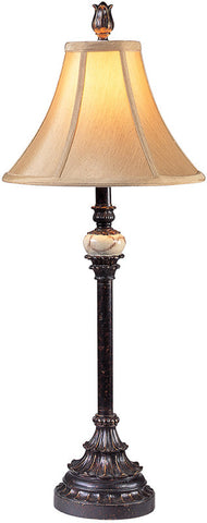 Ok Lighting OK-4161M Antique Black Buffet Lamp - PeazzLighting