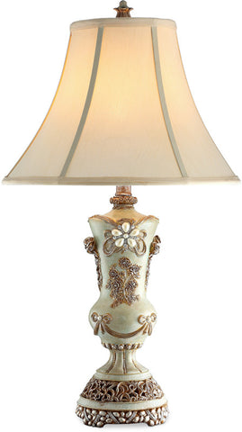 Ok Lighting OK-4203T Vintage Rose Table Lamp - PeazzLighting
