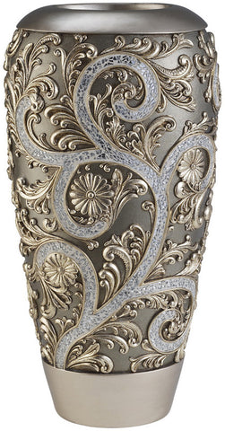 Ok Lighting OK-4232V Silver Vine Vase - PeazzLighting