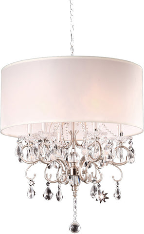 Ok Lighting OK-5109H Crystal Silver Chandelier - PeazzLighting