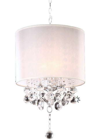 Ok Lighting OK-5110H Crystal Silver Chandelier - PeazzLighting