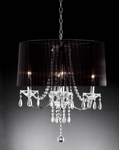 Ok Lighting OK-5111H Crystal Drop Chandelier - PeazzLighting