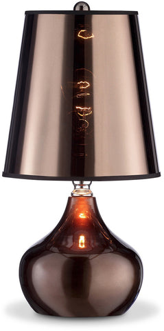 Ok Lighting OK-818CP Luster Metallic Cappuccino Table Lamp - PeazzLighting