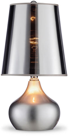 Ok Lighting OK-818SR Luster Silver Table Lamp - PeazzLighting