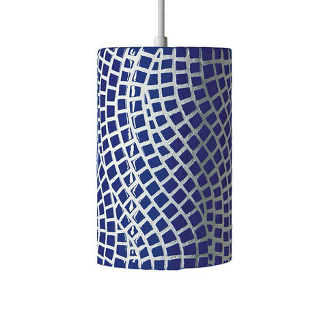 A19 PM20302-CB-CFL13-WCC Mosaic Collection Channels Cobalt Blue Finish Pendant