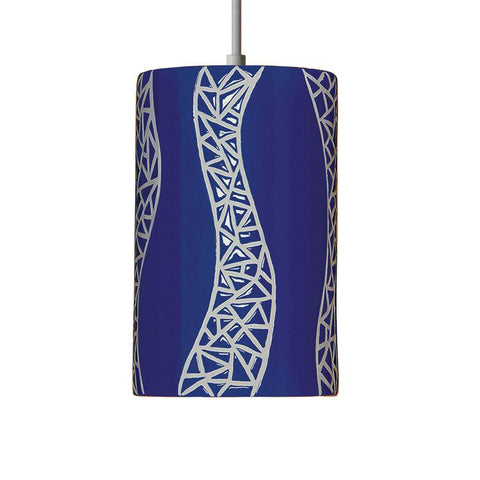 A19 PM20304-CB-CFL13-WCC Mosaic Collection Passage Cobalt Blue Finish Pendant