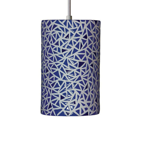 A19 PM20307-CB-CFL13-BCC Mosaic Collection Impact Cobalt Blue Finish Pendant