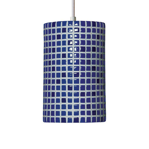 A19 PM20308-CB-CFL13-WCC Mosaic Collection Confetti Cobalt Blue Finish Pendant