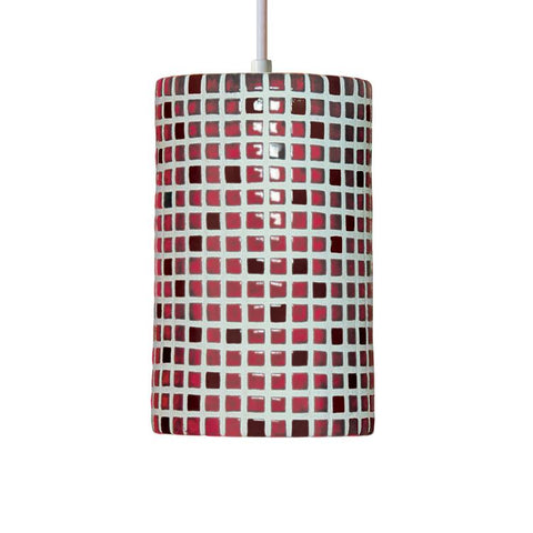 A19 PM20308-MR-CFL13-WCC Mosaic Collection Confetti Matador Red Finish Pendant