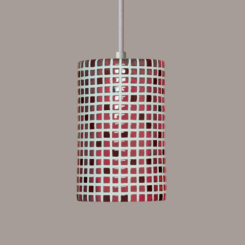 A19 PM20308-MR-CFL13-BCC Mosaic Collection Confetti Matador Red Finish