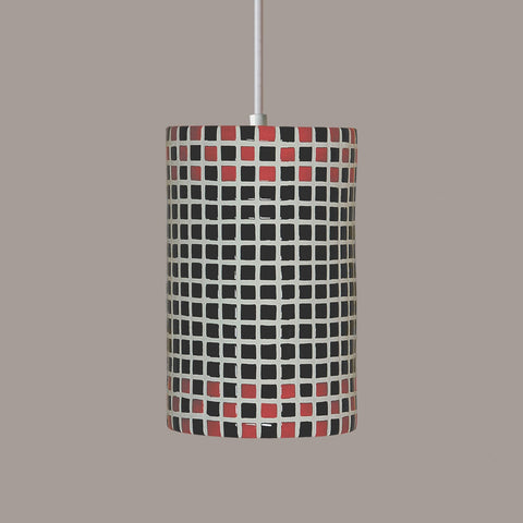 A19 PM20309-RB-CFL13-WCC Mosaic Collection Checkers Red and Black Finish