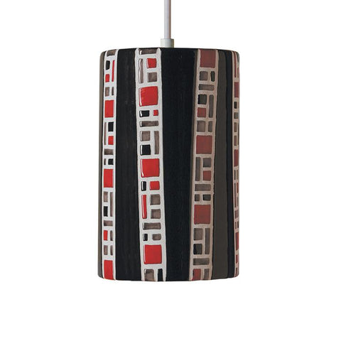 A19 PM20310-BL-CFL13-BCC Mosaic Collection Ladders Black Finish Pendant