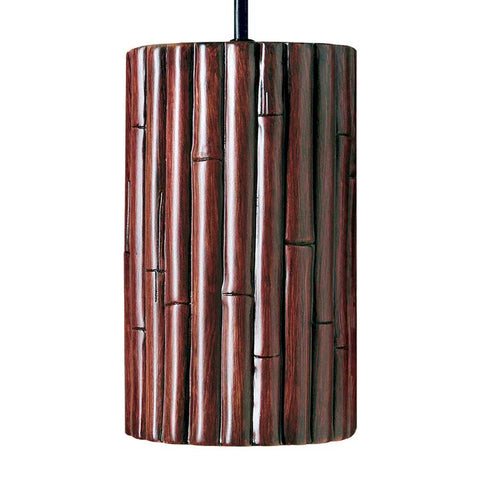A19 PN20301-CI-LEDGU24-WCC Nature Collection Bamboo Cinnamon Finish Pendant