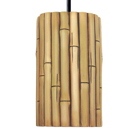 A19 PN20301-NA-CFL13-WCC Nature Collection Bamboo Natural Finish Pendant