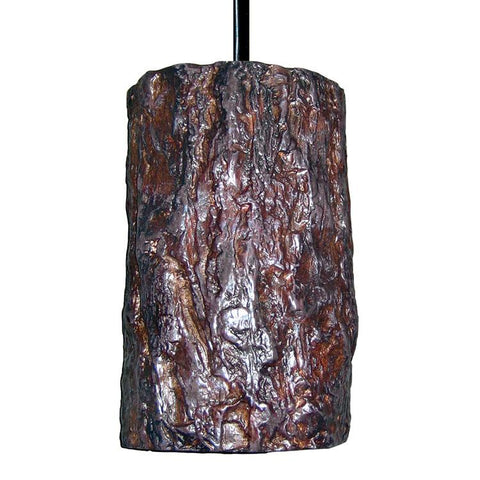 A19 PN20302-BCC Nature Collection Bark Bark Finish Pendant