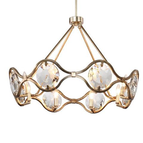 Crystorama Quincy 8 Light Distressed Twilight Chandelier