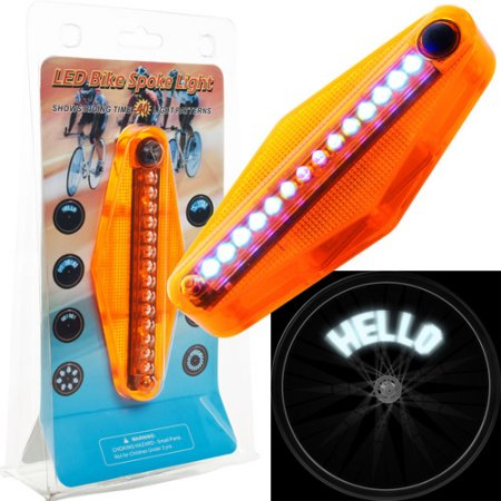 72-Lt618-2 Set Of 2 Tgt Led Bike Spoke Message Light - 14 Led