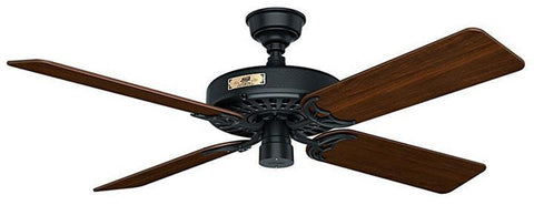 "Casablanca 23838 Hunter Original- 52"" Black ETL Damp 23838 FAN"