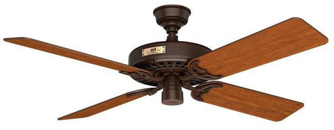 "Casablanca 23847 Hunter Original- 52"" Chestnut Brown ETL Damp 23847 FAN"