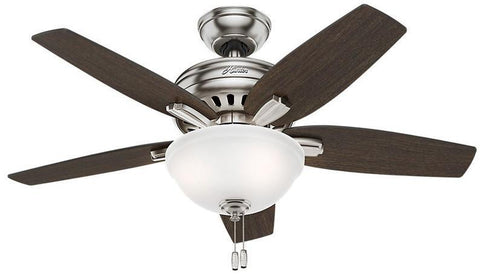 "Casablanca 51088 Newsome Collection - 42"" Brushed Nickel Bowl Light Kit 51088 FAN"