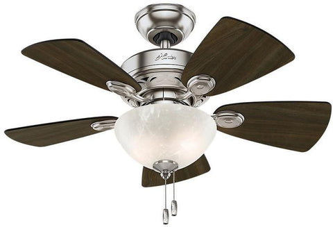 "Casablanca 52092 Watson - 34"" Brushed Nickel White Bowl Light Kit 52092 FAN"