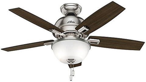 "Casablanca 52227 Donegan Collection - 44"" Brushed Nickel Bowl Light Kit 52227 FAN"