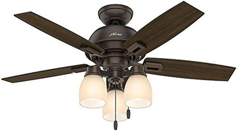 "Casablanca 52228 Donegan Collection - 44"" Onyx Bengal Three Light Light Kit 52228 FAN"