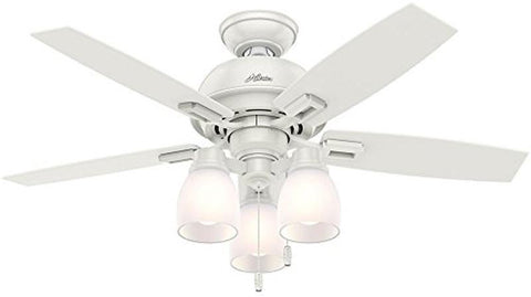 "Casablanca 52229 Donegan Collection - 44"" Fresh White Three Light Light Kit 52229 FAN"