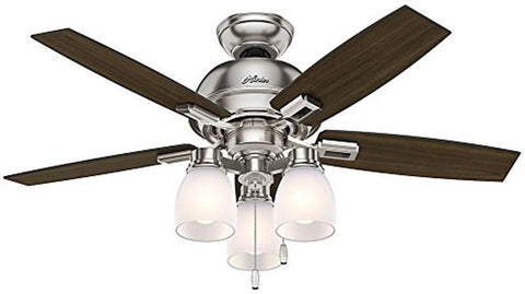 "Casablanca 52230 Donegan Collection - 44"" Brushed Nickel Three Light Light Kit 52230 FAN"