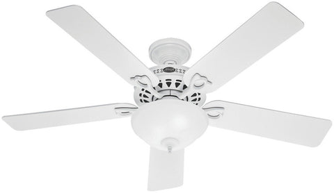 "Casablanca 53059 The Astoria™ - 52"" White Bowl Light Kit 53059 FAN"
