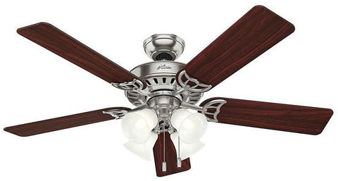 "Casablanca 53064 The Studio Series®- 52"" Brushed Nickel Four Light Kit 53064 FAN"