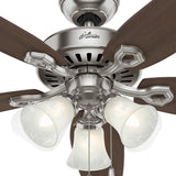 "Casablanca 53241 Builder Elite ENERGY STAR®- 52"" Brushed Nickel 53241 FAN"