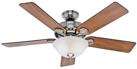 "Casablanca 53249 Pro's Best® Five Minute Fan - 52"" Brushed Nickel Bowl Light Kit 53249 FAN"