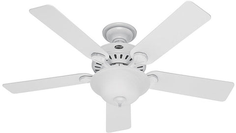 "Casablanca 53251 Pro's Best® Five Minute Fan - 52"" White Bowl Light Kit 53251 FAN"