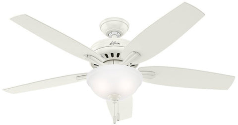 "Casablanca 53310 Newsome Collection - 52"" Fresh White Bowl Light Kit 53310 FAN"