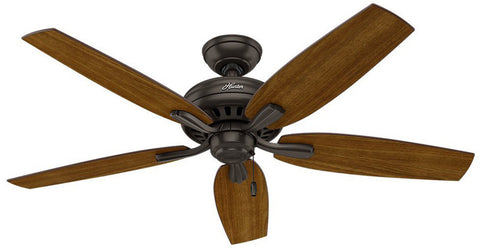 "Casablanca 53311 Newsome Collection - 52"" Premier Bronze Bowl Light Kit 53311 FAN"
