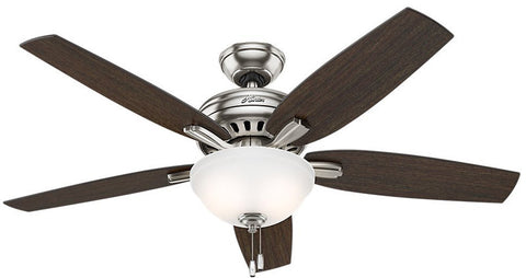 "Casablanca 53312 Newsome Collection - 52"" Brushed Nickel Bowl Light Kit 53312 FAN"