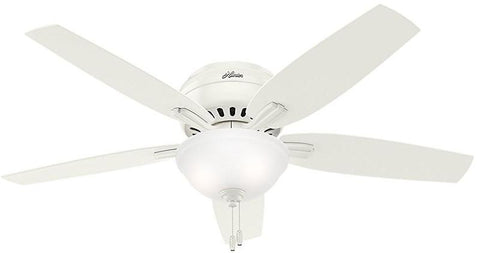 "Casablanca 53313 Newsome Collection - 52"" Fresh White Low Profile Bowl Light Kit 53313 FAN"